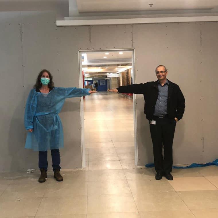 Deputy Directors Of ALYN Hospital Marking The Restricted Area