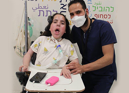 Head Nurse Of Bayit Cham With Patient